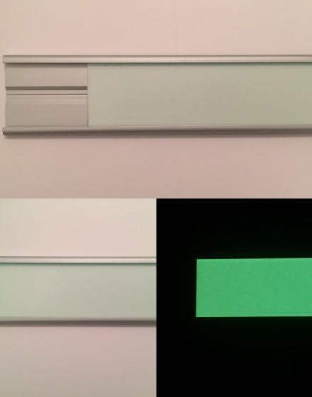 Lama luminiscente de aluminio para escalera