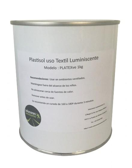 Formato pintura plastisol luminiscente textil