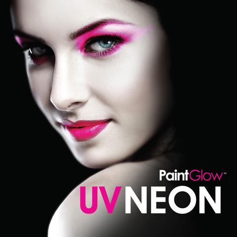Paintglow maquillaje facial, corporal, pelo neon con luz uv en Canarias.