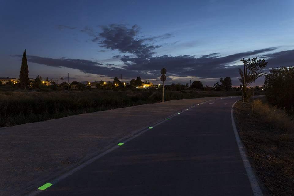 Instalación de placas luminiscentes Nigthway en Murcia