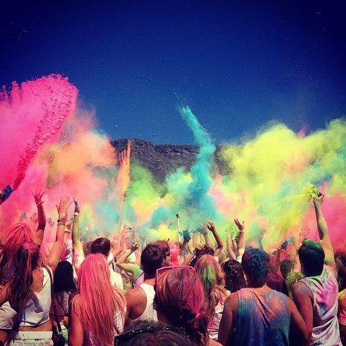 Festival de polvos de colores holi