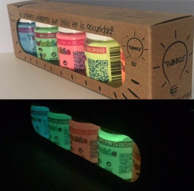 Pack de témperas luminiscentes para niños Twinkle