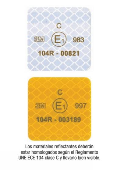 Homologación europea ECE104 para tiras reflectantes