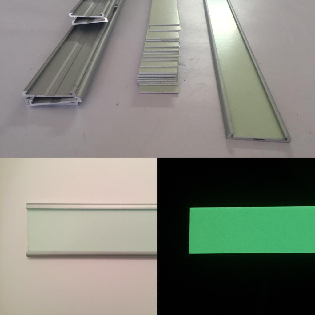 Perfiles de aluminio fotoluminiscentes