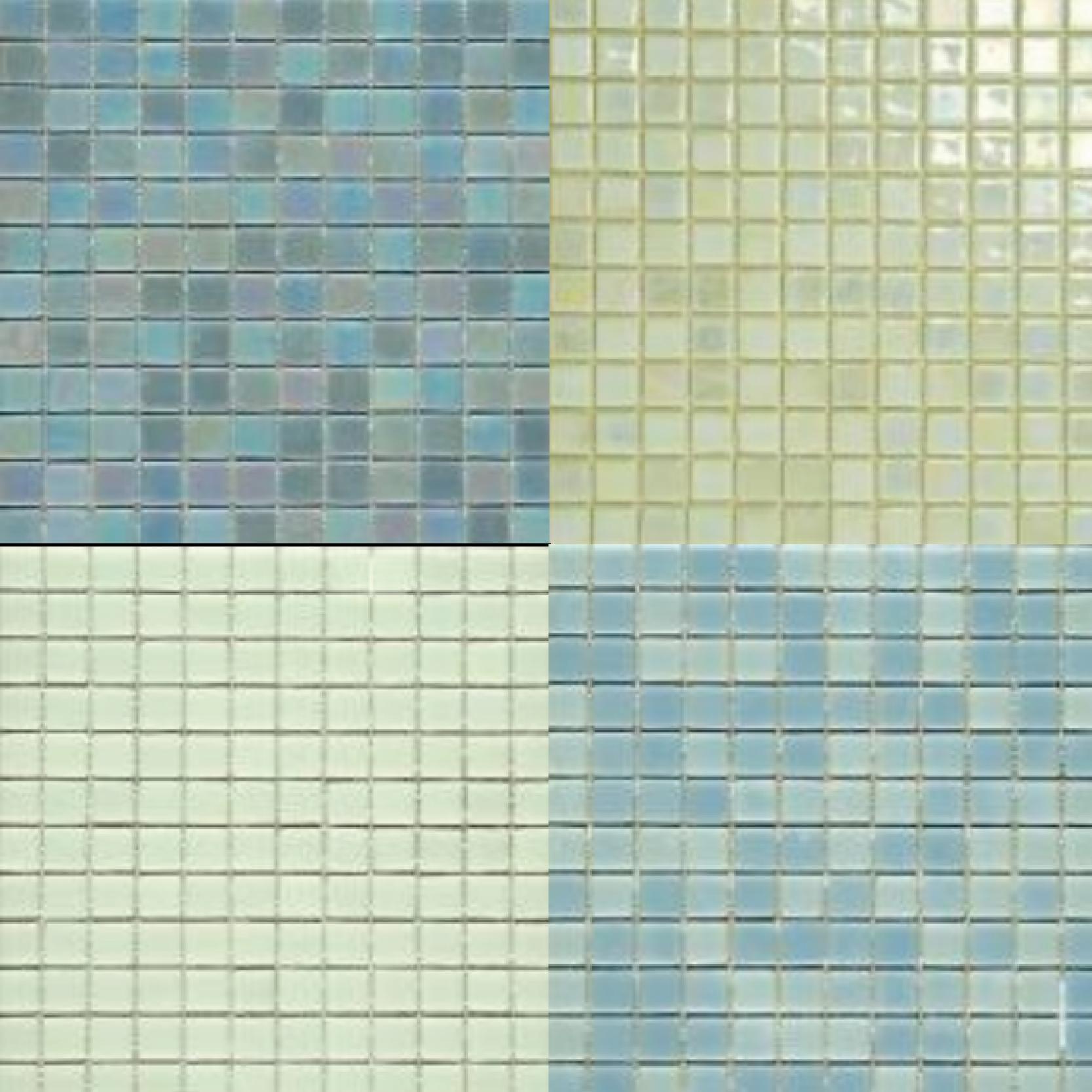 Mosaico de cerámica fotoluminiscente
